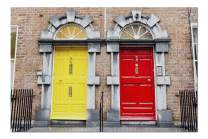 Georgian Doors in Red & Yellow Colors Ireland 9003235 (Premium 1000 Piece Jigsaw Puzzle for Adults, 20x30, Made in USA!)