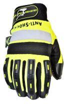 HAWK PRO PRO-0511L Anti Slip Mechanics Glove, Large, Green