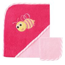 Luvable Friends Hooded Towel and Washcloth, Bee