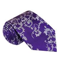 Twenty Dollar Tie Men's Luxury Floral Silk Tie, Pocket Square and Cuff-links