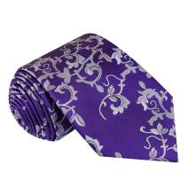 Twenty Dollar Tie Men's Luxury Floral Silk Tie, Pocket Square and Cuff-links
