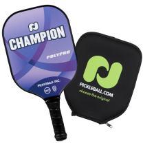 Champion PolyPro Pickleball Paddle Blue with PBI Cover   Performance Pickleball Paddle   Combosite Polypropylene Honeycomb Core   Fiberglass & Polycarbonate face