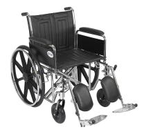 Drive Medical Sentra EC Heavy Duty Wheelchair with Various Arm Styles and Front Rigging Options, Black, Bariatric, 20 Inch