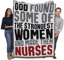 Pure Country Weavers God Made Nurses Blanket Throw Woven from Cotton Made in The USA 72x54