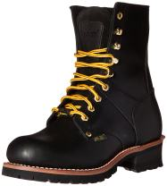 "Ad Tec 9"" Super Logger Steel Toe Boots for Men, Leather Goodyear Welt Construction & Utility Footwear, Lug Sole"