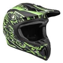 Typhoon Adult Dirt Bike Helmet ATV Off Road ORV Motocross Helmet DOT Motorcycle Matte Green (Large)