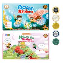 2 STEM Toys for 5 Year Olds and up - Math Games to Learn Addition of 1 digit to 1, 2 and 3 digit numbers (Top Gifts for 5 Year Old Boys and Girls)