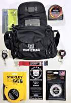 """BULLYBAG 8-Pack - For Adjusters, Home Inspectors, Roof Sales, Estimators - BullyBag, Haag Shingle Gauge, Tool Managers, 25' Tape Measure, DynaBar 7"""" Pry Bar, Pitch Gauge, Stanley 100' Tape"""