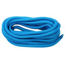 Amarine Made 3/8 Inch 20 FT Double Braid Nylon Dockline Dock Line Mooring Rope Color: Black, White, Blue, Cadet Blue, White/Gold
