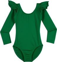 Leotard Boutique Dance Leotard - Flutter Ruffle Long Sleeve Leotards (Toddler & Girls)