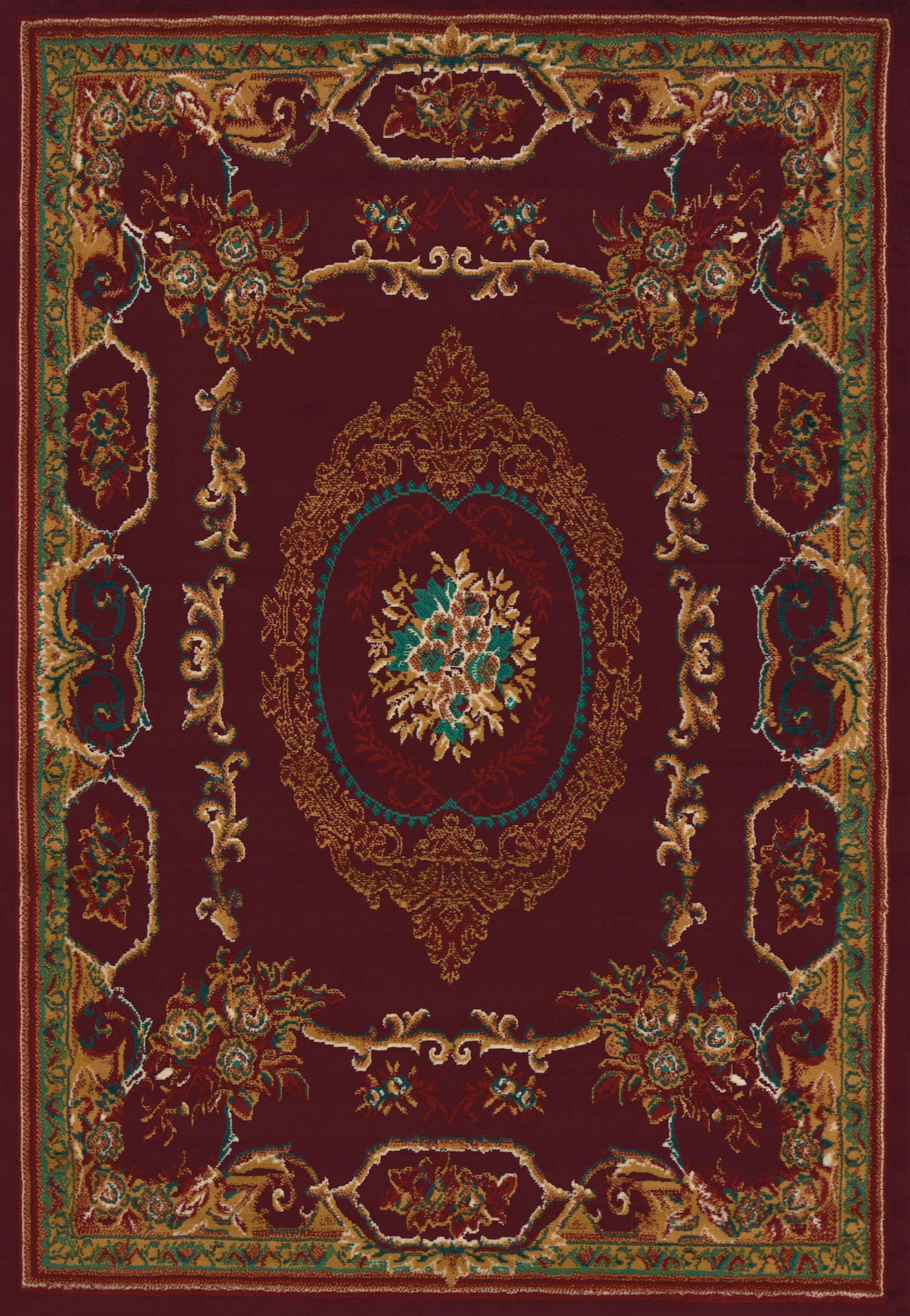 "United Weavers of America Lexington Manhattan Rug Collection, 5' 3"" by 7' 6"", Burgundy"