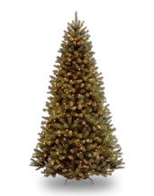 National Tree Company Pre-lit Artificial Christmas Tree | Includes Pre-strung White Lights and Stand | North Valley Spruce - 9 ft