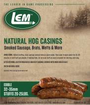 LEM Products 141 8 oz. Vacuum Sealed Bag - Hog Casings for 25 lbs. Meat