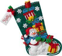 Bucilla Snowman with Presents Stocking Kit