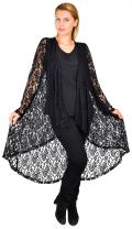 Dare2bStylish Women Plus Size High Low Open Front Duster Cardigan Jacket