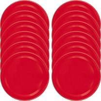Red Mason Jar Lids, Set of 12