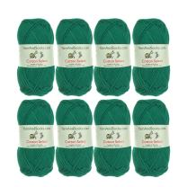 BambooMN Cotton Select Sport Weight Yarn - 100% Fine Cotton - 8 Skeins - Col 406 - Sea Green