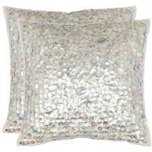 "Safavieh Pillows Collection Dialia Throw Pillows (Set of 2), 22"" x 22"", Silver"