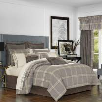 Five Queens Court Jamison Lodge 4 Piece Comforter Set, Grey, Queen 92x96