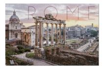 Rome, Italy - Roman Forum and Sunrise (Premium 1000 Piece Jigsaw Puzzle for Adults, 19x27, Made in USA!)