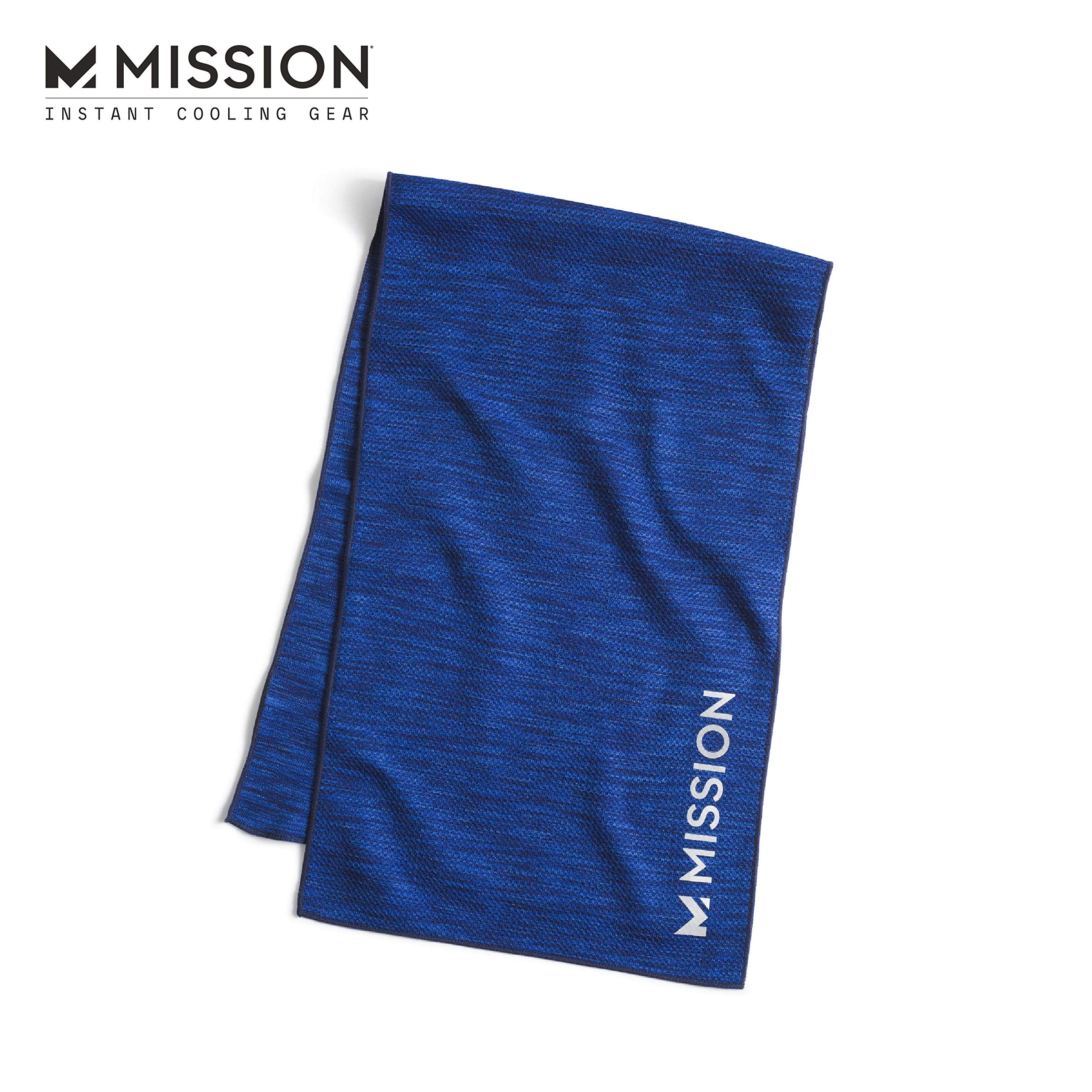 """MISSION Lite-Knit Cooling Towel Instant Evaporative Cooling, Lightweight Knit Fabric, Cools Instantly When Wet, UPF 50 Sun Protection, Yoga, Golf, Gym, Neck, 10"""" x 33"""""""