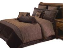Hallmart Collectibles Opulent Paisley Comforter Set, Brown 9 Piece