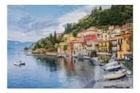 Milan, Italy - Town of Menaggio on Lake Como with Boats & Houses 9002742 (19x27 Premium 1000 Piece Jigsaw Puzzle, Made in USA!)