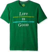 Life is Good Men's Creamy Two Stripe Lig Tee
