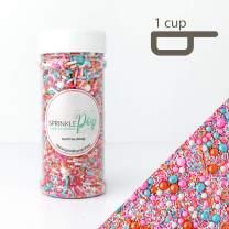 Sorbeto Sprinkle Mix | Pastel |Gluten Friendly | Pink| Orange and Blue | Ice Cream| Spring| Sprinkles, 8OZ
