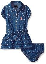 U.S. Polo Assn. Baby Girl's Casual Dress Dress