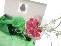 The Original Wooden Rose All Red Roses Floral Flower Bouquets in a Gift Box (1 Dozen) …