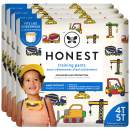 The Honest Company Toddler Training Pants   Construction Zone   4T/5T   76 Count   Eco-Friendly   Underwear-Like Fit   Stretchy Waistband & Tearaway Sides   Perfect for Potty Training