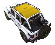 SPIDERWEBSHADE Jeep Wrangler JL Mesh Shade Top Sunshade UV Protection Accessory USA Made with 5 Year Warranty for Your JL 4-Door (2018 - current) in Yellow