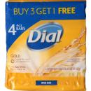 Dial Antibacterial Bar Soap, Gold, 4 Ounce (Pack of 4) Bars