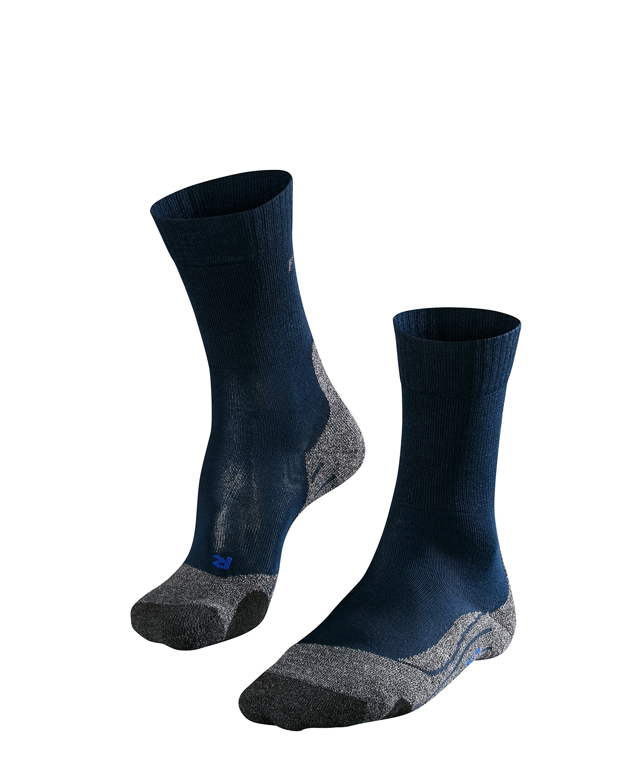 FALKE Womens TK2 Cool Hiking Socks - Anti Blister, Navy Blue, US sizes 6.5 to 10.5, 1 Pair