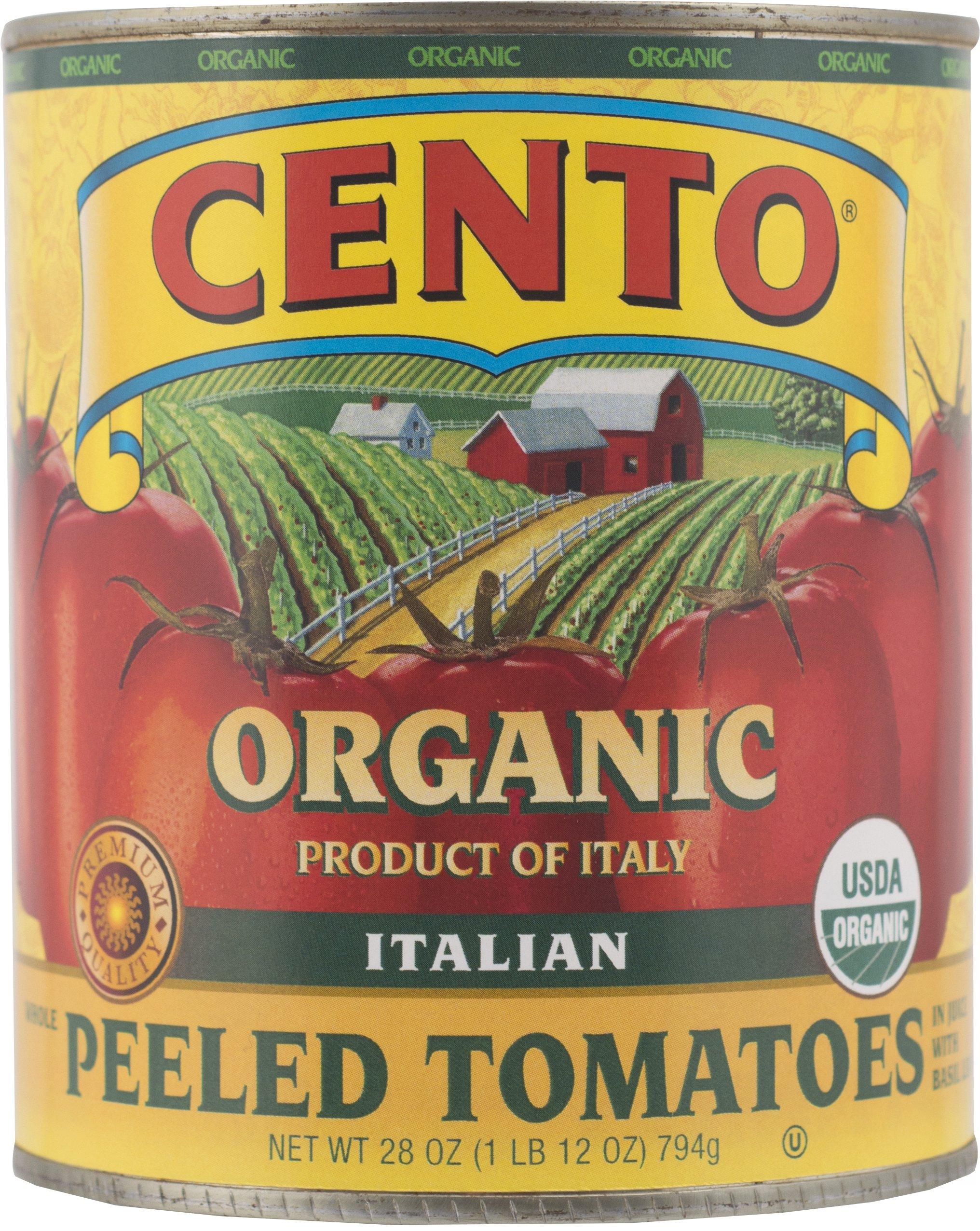 Cento Organic Italian Peeled Tomatoes, 28 Ounce (Pack of 6)