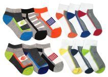 Jefferies Socks Boys Sport Tech Pattern Variety Sport Socks 12 Pair Pack