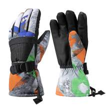 Ski Gloves, Warmest Waterproof and Breathable Snow Gloves for Mens,Womens,Ladies and Kids Skiing,for Parent Child Outdoor
