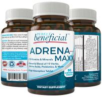 ADRENA-MAXX - Natural Adrenal Supplement, 45Day Supply- Fatigue Relief, Supports Adrenal Function, Stress Response, Enhanced Energy - Pure, Organic Ingredients -. from Purely benefical