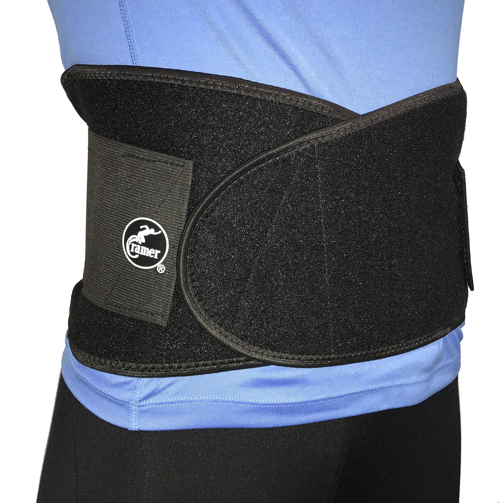 Cramer Double Strap Back Support Waist Belt For Abdominal and Lumbar Regions, Lower Back Support Brace, Back Pain Relief, Back Compression, Promotes Good Posture, Supports Spine Stability