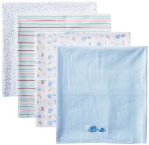 Spasilk Unisex Baby 4 Pack 100% Cotton Flannel Receiving Blanket — Baby Boy or Baby Girl Shower Gift