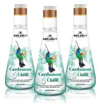 Cardamom & Chilli Naturally Flavored Sparkling Water by Kolibri - Non Alcoholic Drinks, Cocktail Mixers with Agave Syrup - Botanical, Bubbly, Fizzy Natural Spring Tonic Water for Mocktails (3 Pack)