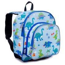 Wildkin 12 Inches Backpack for Toddlers, Boys and Girls, Ideal for Daycare, Preschool and Kindergarten, Perfect Size for School and Travel, Mom's Choice Award Winner, Olive Kids (Dinosaur Land)