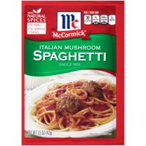 McCormick Italian Mushroom Spaghetti Sauce Mix, 1.5 oz (Pack of 12)