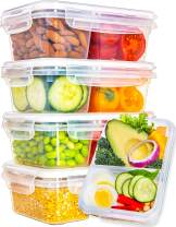 Fullstar Food Storage Containers with Lids - Divided Lunch Containers (28 Ounce, 5 Pack) Plastic Food Containers with Lids Meal Prep Containers 2 Compartment Plastic Containers with Lids