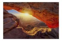Canyonlands National Park, Utah - Mesa Arch at Sunrise 9001144 (Premium 1000 Piece Jigsaw Puzzle for Adults, 20x30, Made in USA!)