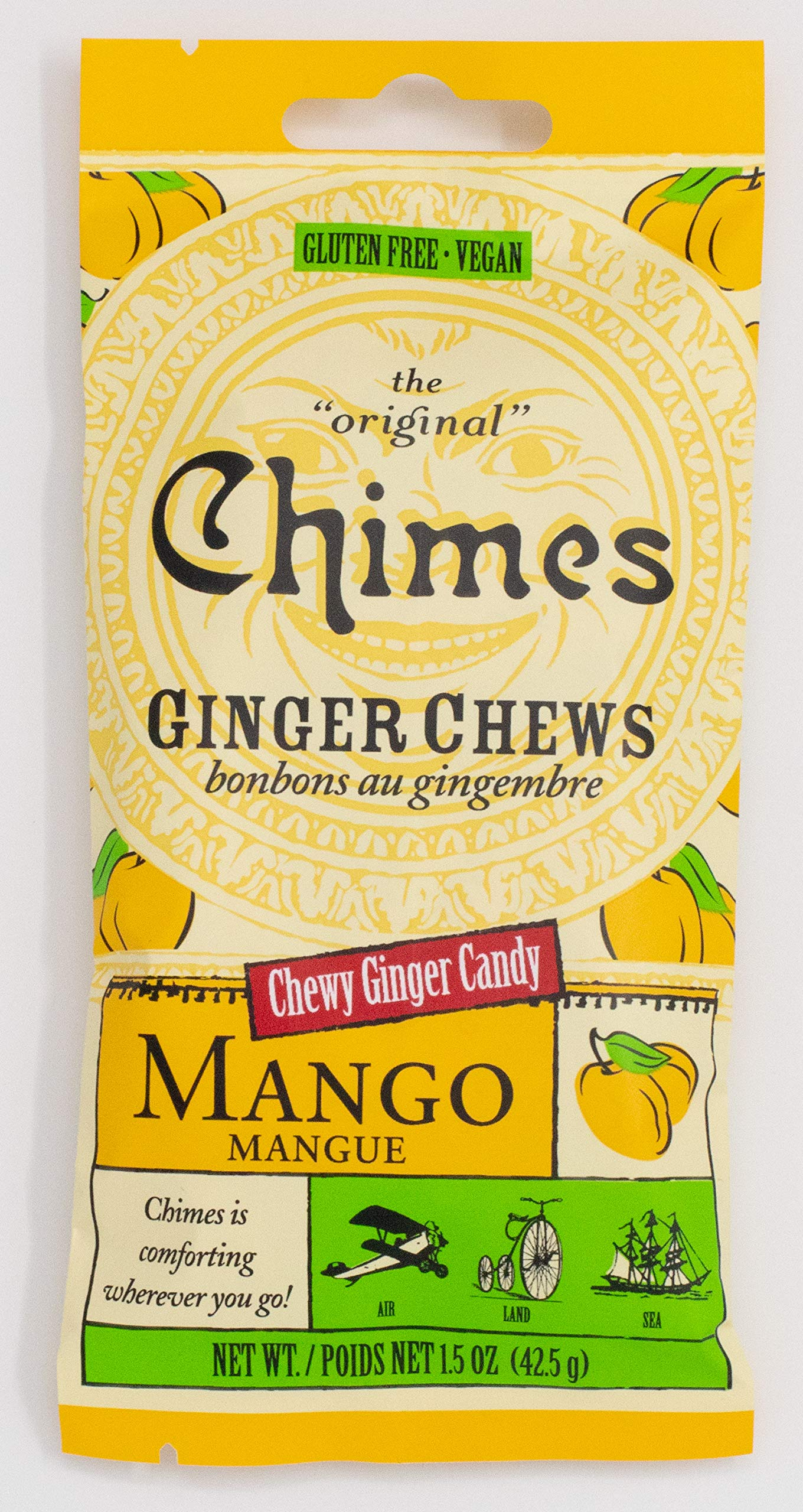 Chimes Ginger Chews Candy, Mango, 1.5 Ounce (Pack of 1)