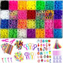 Yitohop 12000+ Rainbow Colorful Loom Bands, Premium Rubber Bands for Bracelet Making Kit DIY Band Bracelet Mega Refill Kit Girls Gift to Improve Imagination