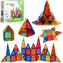 Magnetic Stick N Stack 32 Piece DiamondMags New Magnetic Tiles Design Features Less Plastic = More Magnetism, Super Strong Blocks for Toddlers and Kids Construction