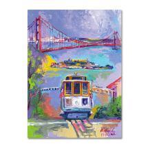 San Francisco 2 by Richard Wallich, 24x32-Inch Canvas Wall Art